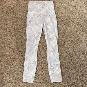 Lululemon full length leggings with netting detail
